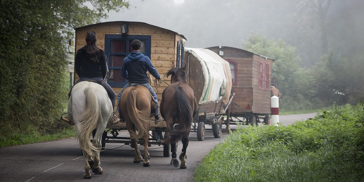 caravan, gypsy, romi