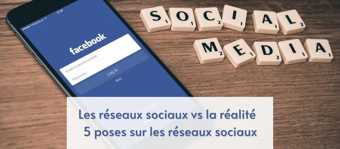 réseaux sociaux, Réalité, poses, Réseaux sociaux