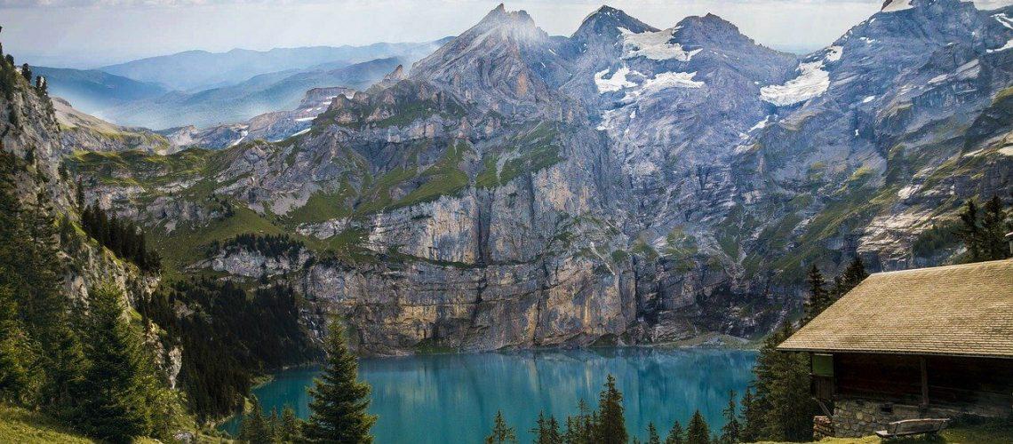 Svizzera, mountains, lake, trees