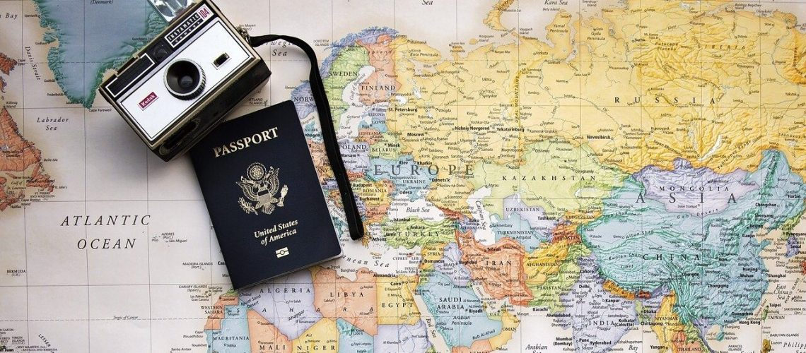 viajar, passport, map, world